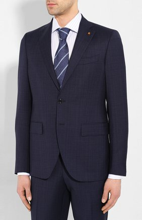 Мужской шерстяной костюм SARTORIA LATORRE синего цвета, арт. A6I7EF U70781 | Фото 2