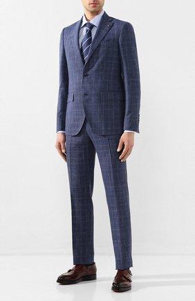 Мужской костюм из смеси шерсти и шелка SARTORIA LATORRE синего цвета, арт. A6I7EF Q71178 | Фото 1