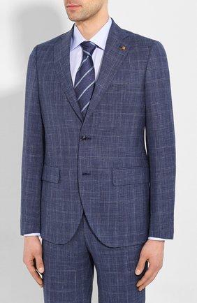Мужской костюм из смеси шерсти и шелка SARTORIA LATORRE синего цвета, арт. A6I7EF Q71178 | Фото 2
