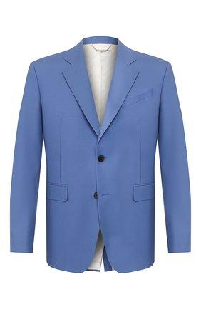 Мужской шерстяной пиджак GIVENCHY синего цвета, арт. BM307G12K4 | Фото 1