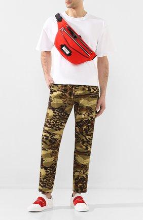 Мужская текстильная поясная сумка downtown GIVENCHY красного цвета, арт. BKU007K0S9 | Фото 2