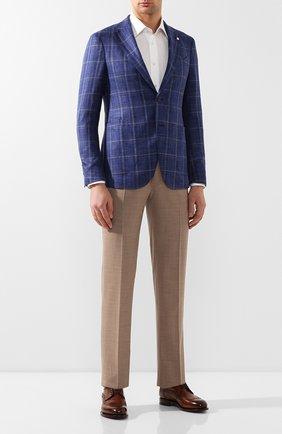 Мужской шерстяные брюки ZILLI светло-коричневого цвета, арт. M0T-40-38N-C6016/0001 | Фото 2