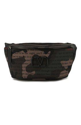 Мужская текстильная поясная сумка valentino garavani VALENTINO хаки цвета, арт. TY2B0827/XAL | Фото 1