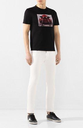 Мужская хлопковая футболка LIMITATO черного цвета, арт. TURB0/T-SHIRT | Фото 2