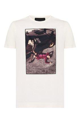 Мужская хлопковая футболка LIMITATO белого цвета, арт. MERCY/T-SHIRT | Фото 1