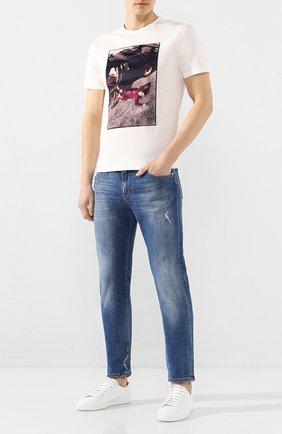 Мужская хлопковая футболка LIMITATO белого цвета, арт. MERCY/T-SHIRT | Фото 2