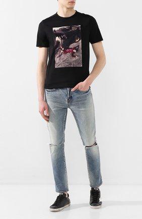 Мужская хлопковая футболка LIMITATO черного цвета, арт. MERCY/T-SHIRT | Фото 2