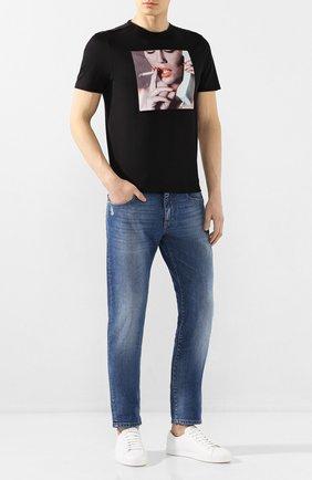 Мужская хлопковая футболка LIMITATO черного цвета, арт. ADDICT/T-SHIRT | Фото 2
