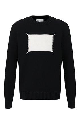 Мужской хлопковый свитер MAISON MARGIELA черного цвета, арт. S50GP0212/S16967 | Фото 1