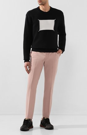 Мужской хлопковый свитер MAISON MARGIELA черного цвета, арт. S50GP0212/S16967 | Фото 2