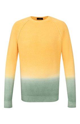 Мужской свитер из смеси шерсти и кашемира ALANUI желтого цвета, арт. LMHE006S20001038 | Фото 1