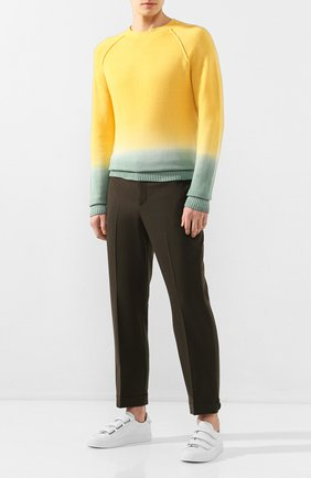 Мужской свитер из смеси шерсти и кашемира ALANUI желтого цвета, арт. LMHE006S20001038 | Фото 2