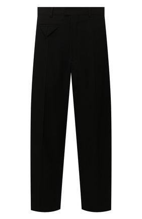Мужской шерстяные брюки BOTTEGA VENETA черного цвета, арт. 619004/VKPZ0 | Фото 1