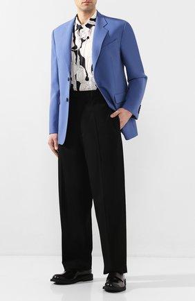 Мужской шерстяные брюки BOTTEGA VENETA черного цвета, арт. 619004/VKPZ0 | Фото 2