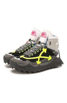 Мужские комбинированные кроссовки odsy-1000 OFF-WHITE серого цвета, арт. 0MIA162S208000420862 | Фото 1