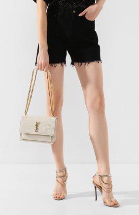 Женская сумка sunset medium SAINT LAURENT белого цвета, арт. 442906/DND0J | Фото 2