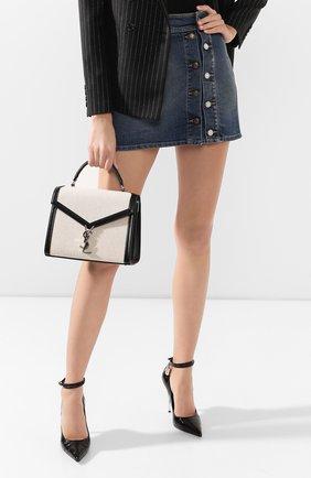 Женская сумка cassandra medium SAINT LAURENT черного цвета, арт. 578000/HZD2N | Фото 2