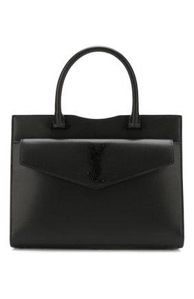 Женская сумка uptown medium SAINT LAURENT черного цвета, арт. 557653/1KA0U | Фото 1