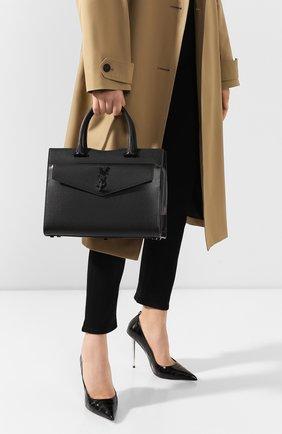 Женская сумка uptown medium SAINT LAURENT черного цвета, арт. 557653/1KA0U | Фото 2