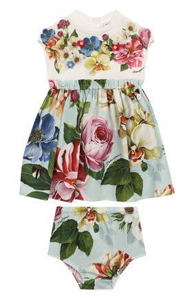 Женский комплект из платья и шорт DOLCE & GABBANA разноцветного цвета, арт. L2JD1R/G7VVW | Фото 1