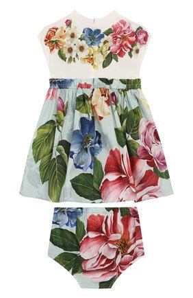 Женский комплект из платья и шорт DOLCE & GABBANA разноцветного цвета, арт. L2JD1R/G7VVW | Фото 2