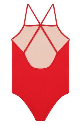Детского слитный купальник GUCCI красного цвета, арт. 554364/XJAS0   Фото 2
