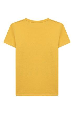 Детская хлопковая футболка GUCCI желтого цвета, арт. 547559/XJB44 | Фото 2