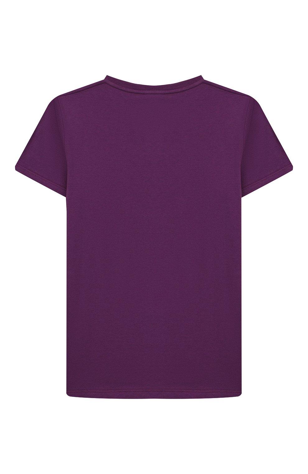 Детская хлопковая футболка GUCCI фиолетового цвета, арт. 547559/XJB44 | Фото 2