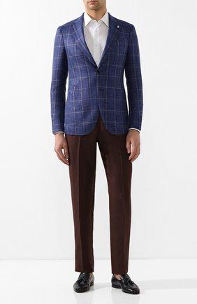 Мужской пиджак из смеси шерсти и шелка L.B.M. 1911 темно-синего цвета, арт. 2411/02648 | Фото 2