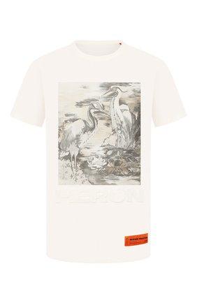 Мужская хлопковая футболка HERON PRESTON белого цвета, арт. HMAA011S209140220188 | Фото 1