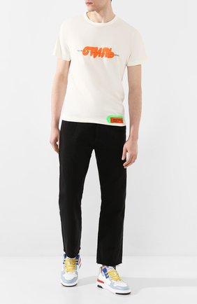 Мужская хлопковая футболка HERON PRESTON белого цвета, арт. HMAA011S209140270188 | Фото 2