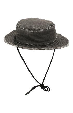 Мужская хлопковая шляпа diesel red tag x a-cold-wall* DIESEL RED TAG темно-серого цвета, арт. ACW-CAP01 | Фото 1