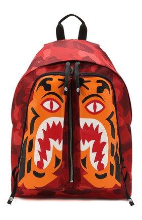 Мужской текстильный рюкзак BAPE красного цвета, арт. 1G30182053 | Фото 1