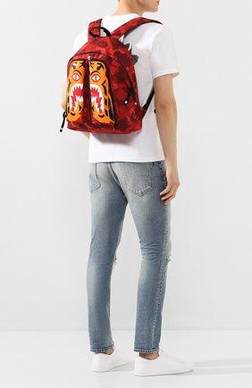 Мужской текстильный рюкзак BAPE красного цвета, арт. 1G30182053 | Фото 2