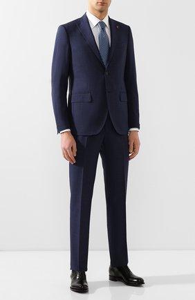 Мужской шерстяной костюм SARTORIA LATORRE темно-синего цвета, арт. A6I7EF U70731 | Фото 1