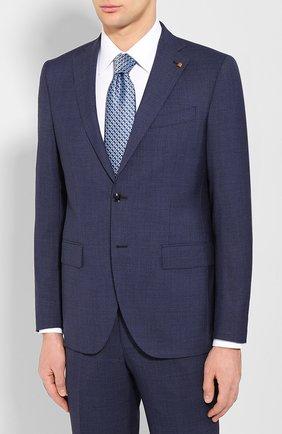 Мужской шерстяной костюм SARTORIA LATORRE темно-синего цвета, арт. A6I7EF U70731 | Фото 2