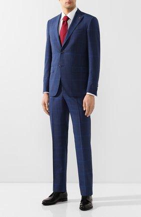 Мужской шерстяной костюм SARTORIA LATORRE темно-синего цвета, арт. A6I7EF Q71135 | Фото 1