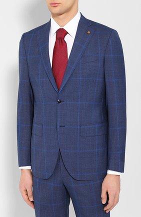 Мужской шерстяной костюм SARTORIA LATORRE темно-синего цвета, арт. A6I7EF Q71135 | Фото 2