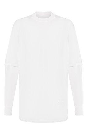 Мужская хлопковый лонгслив DRKSHDW белого цвета, арт. DU20S5269 RN   Фото 1