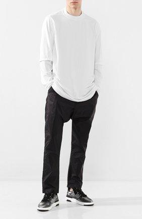 Мужская хлопковый лонгслив DRKSHDW белого цвета, арт. DU20S5269 RN   Фото 2
