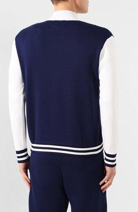 Мужской спортивный костюм из смеси шелка и хлопка ANDREA CAMPAGNA темно-синего цвета, арт. SU20-08081 | Фото 3
