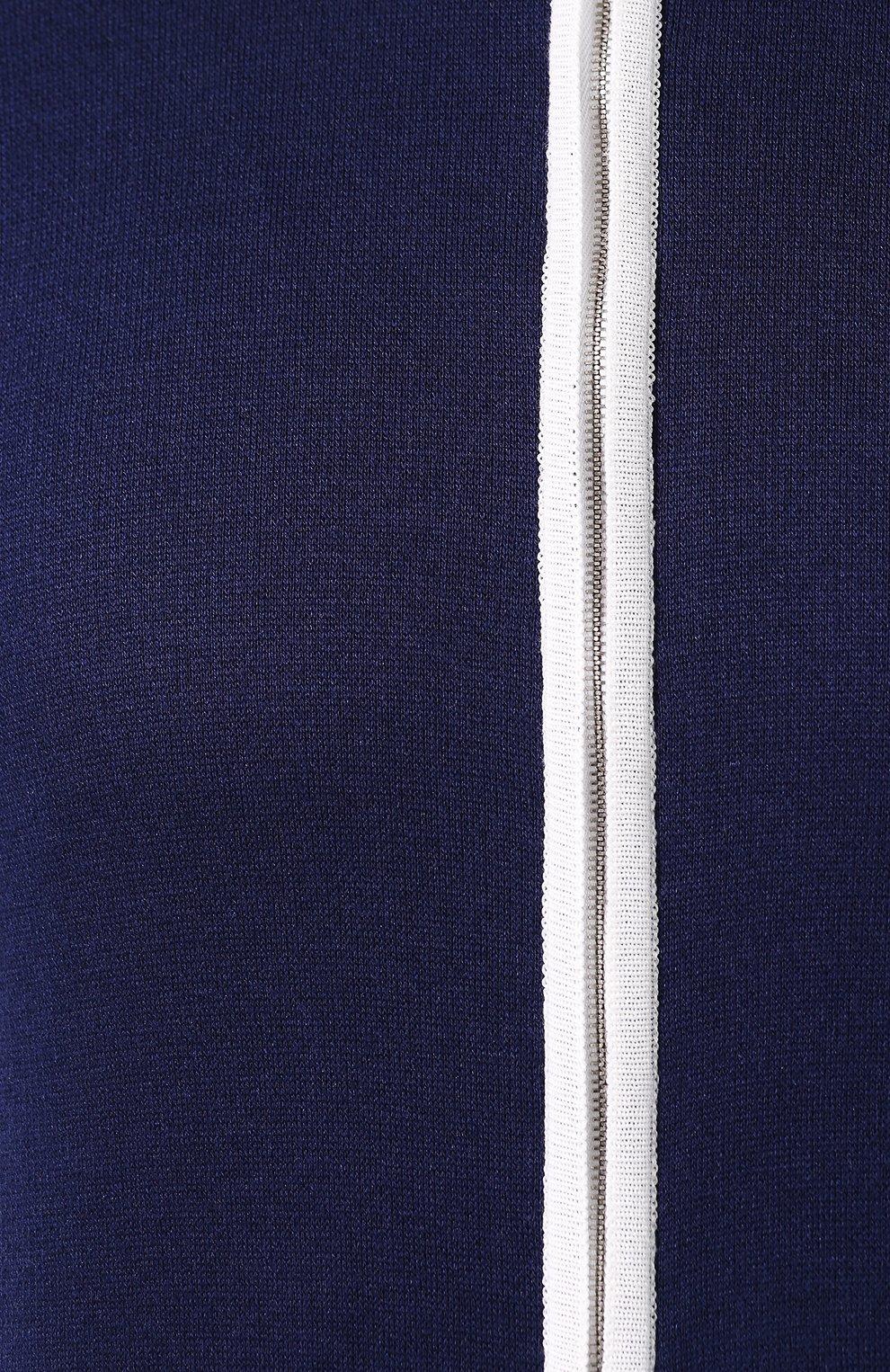 Мужской спортивный костюм из смеси шелка и хлопка ANDREA CAMPAGNA темно-синего цвета, арт. SU20-08081 | Фото 6
