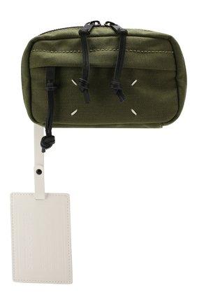 Мужская текстильная поясная сумка MAISON MARGIELA хаки цвета, арт. S55WB0014/PR253 | Фото 1