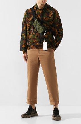 Мужская текстильная поясная сумка MAISON MARGIELA хаки цвета, арт. S55WB0014/PR253 | Фото 2
