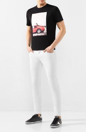 Мужская хлопковая футболка LIMITATO черного цвета, арт. HANG L00SE/T-SHIRT | Фото 2