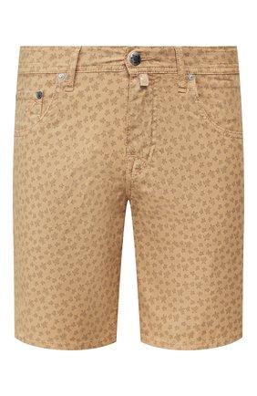 Мужские хлопковые шорты VILEBREQUIN бежевого цвета, арт. VBMST0002-02017-S   Фото 1