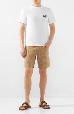 Мужские хлопковые шорты VILEBREQUIN бежевого цвета, арт. VBMST0002-02017-S   Фото 2