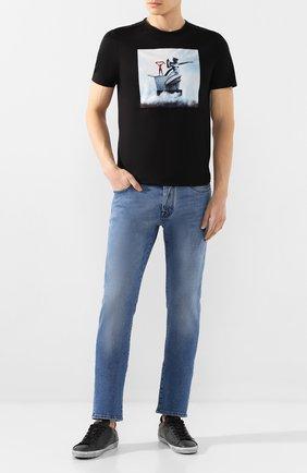 Мужские джинсы VILEBREQUIN голубого цвета, арт. VBMP0001-01974-W2 | Фото 2