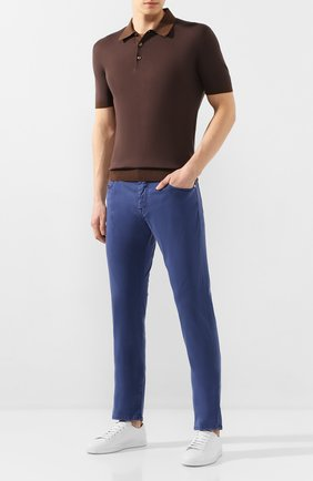 Мужской брюки VILEBREQUIN синего цвета, арт. VBMP0001-01870-S   Фото 2