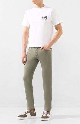 Мужской брюки VILEBREQUIN хаки цвета, арт. VBMP0001-01870-S   Фото 2